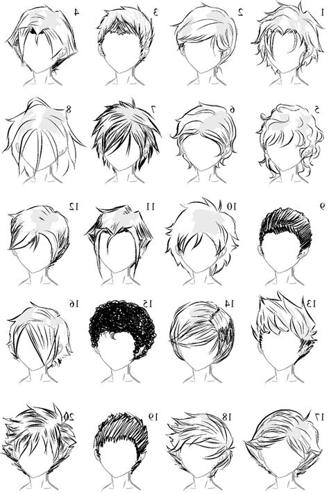 male anime hairstyles drawing  paintingvalleycom