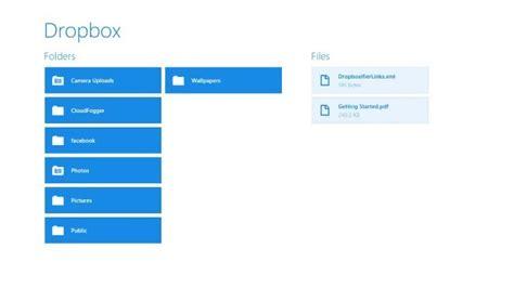 L'app Dropbox è Disponibile Per Windows 8 E Rt Centergeekit
