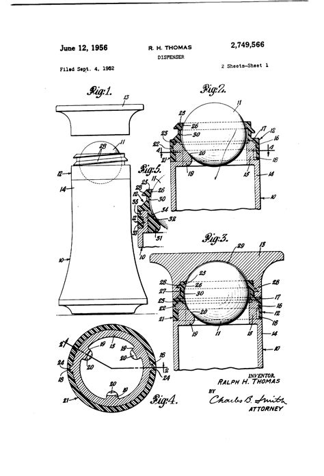 Dispense Patente by Patent Us2749566 Dispenser Patents