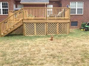 deck lattice here are some simple inexpensive d