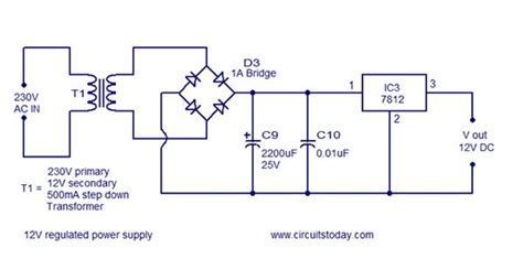Circuit Diagram Rectifier Power Regulator