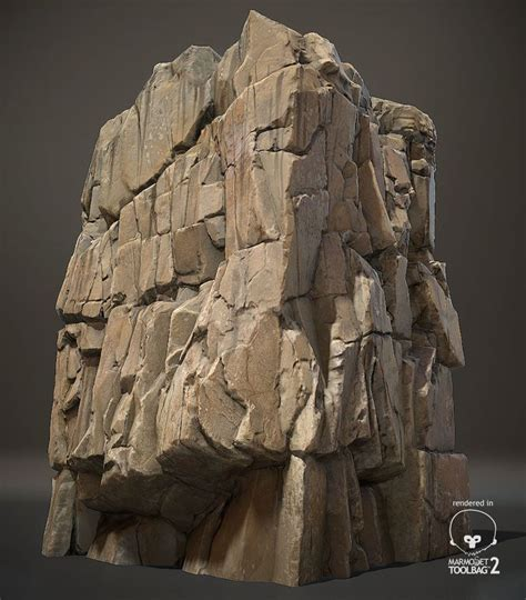 rock cliff concept rocks zbrush environment artstation chae wonhee 3d game formations drawing painting blocky artificial castle tutorial digital fantasy