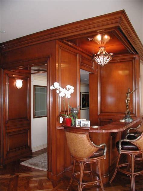 Handsome Corner Bar  Traditional  Living Room Los