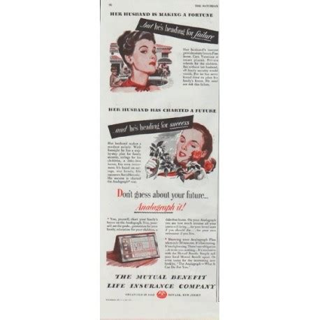 1948 mutual benefit life insurance company vintage ad quot her husband quot