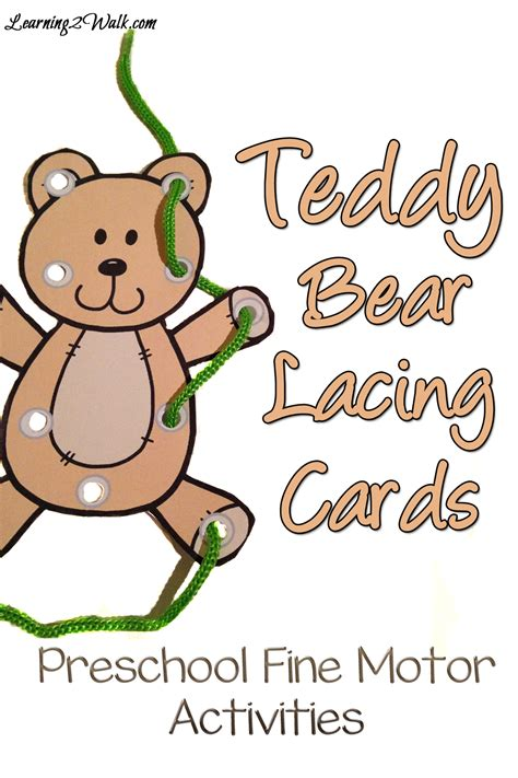 free teddy themed printables and crafts 489 | Teddy Bear Preschool Fine Motor Activities pin
