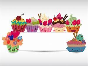 Cartoon dessert decorative bulletin boards vector material ...
