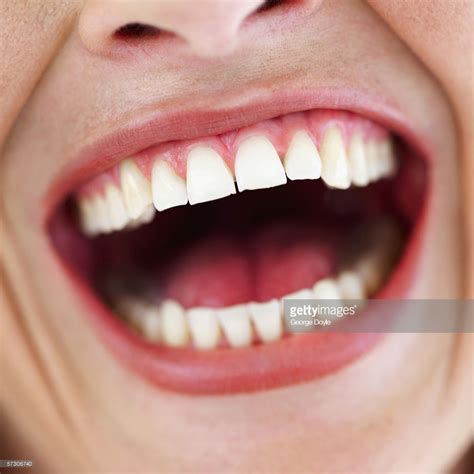 Closeup Of A Womans Mouth Wide Open Stock Photo  Getty Images