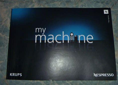 krups nespresso machine review my machine booklet   Nespresso Krups Coffee Machine   Image 4