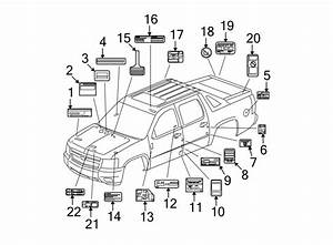Cadillac Escalade Ext Engine Decal  Fuse Block