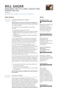 marketing consultant resume marketing consultant resume sles visualcv resume sles database