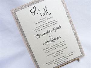 11 glitter wedding invitations for Wedding invitations glitter border