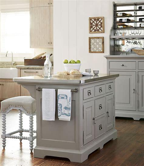 7 kitchen island dogwood cobblestone kitchen island set from paula deen