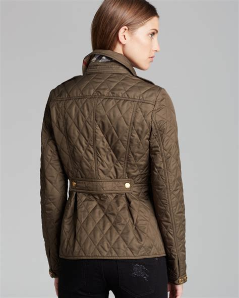 s burberry quilted jacket burberry brit moredale quilted jacket in lyst