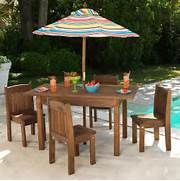 Kidkraft Toddler Table And Chairs by KidKraft 00046 Kids Outdoor Table And Stacking Chairs ATG Stores