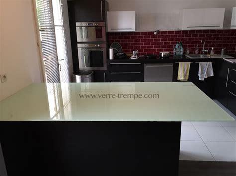 table cuisine verre trempé verre trempé sur mesure prix verre trempé sur mesure