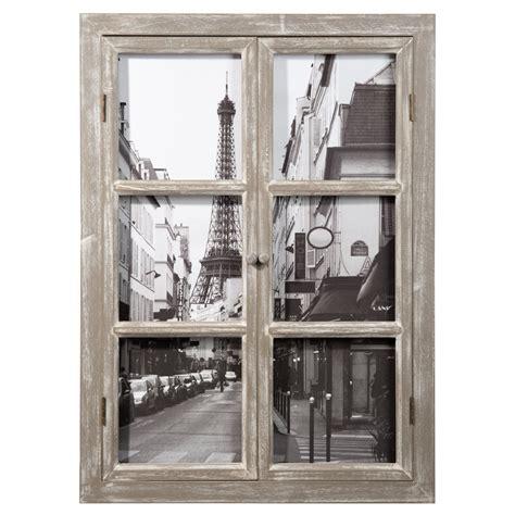 paris wooden window picture   cm maisons du monde