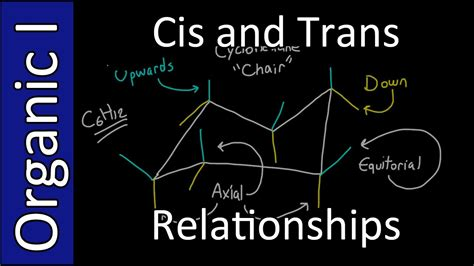 cis and trans substituent relationships organic