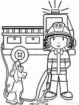 Coloring Fireman Preschool Firefighter Fire Printable Sheets Truck Cool2bkids Dog sketch template