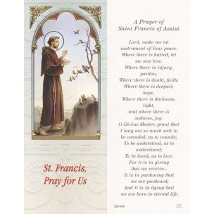signet de la priere pour la saint francois dassise cm