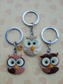 Pictures of Owl Clay Keychains