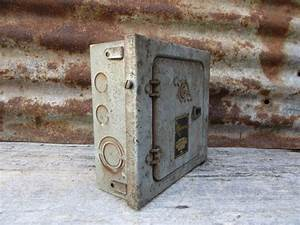 Old Metal Industrial Panel Fuse Box Gray By Theoldtimejunkshop