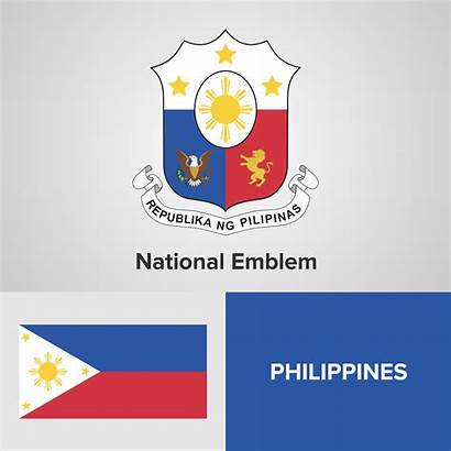 Flag Philippines Map National Emblem Vector Clipart