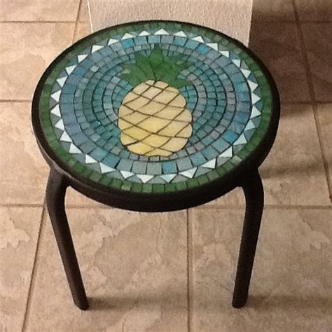 small mosaic pineapple table for patio or by