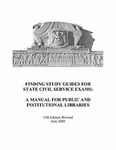 Finding Study Guides For State Civil Service Exams  A