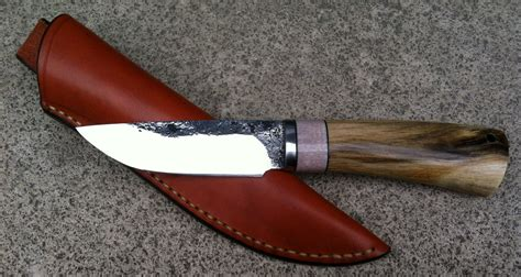 couteau cuisine damas couteau fixe artisanal de joel granjean