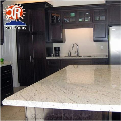 cheaper river white solid color granite countertop