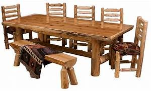 Cedar Log Dining Table ~ PCDT01 ~ Cedar Log Dining Room