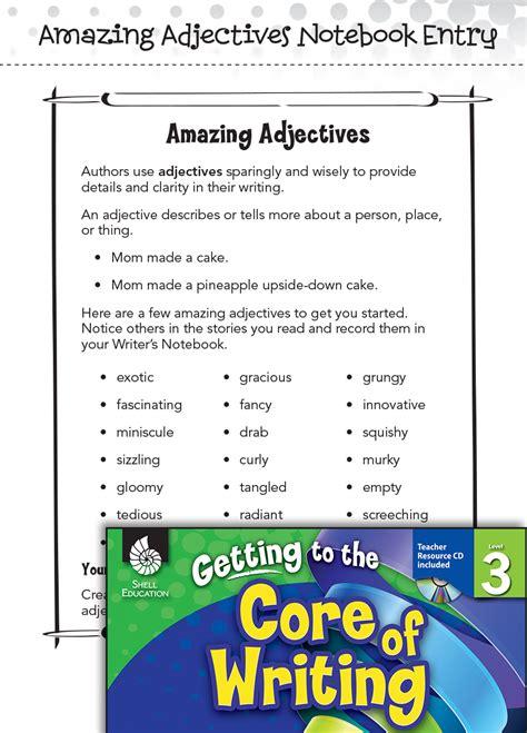 writing lesson amazing adjectives level  teachers