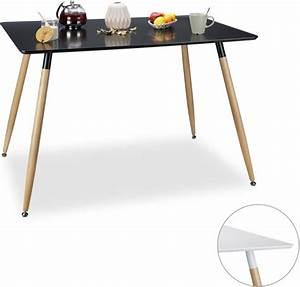 Glasplatte 120 X 80 : relaxdays eettafel 120 x 80 eetkamertafel eetkamer tafel loungetafel zwart ~ Indierocktalk.com Haus und Dekorationen