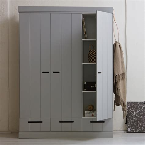 Wardrobe Cabinets With Doors by Grey Connect Contemporary 3 Door Wardrobe With Storage