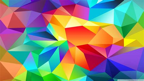 Wallpaper polygonal colorful abstract 1920 x 1080 full hd
