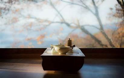 Meditation Tea Wallpapers Table Wonderful Window Interior