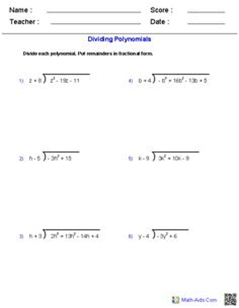 naming polynomials worksheet worksheets for all
