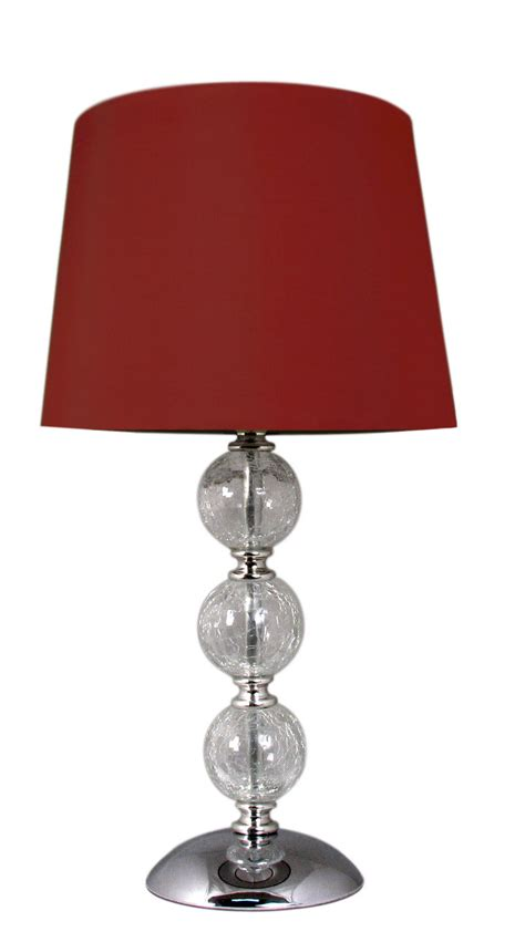 crackle glass table l crackle glass ball table l red