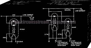 Schematic  Electronic Line Current Detector Wiring Diagram