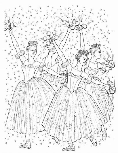 Coloring Nutcracker Ballet Pages Christmas Colouring Dance