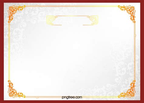 simple european certificate border background material