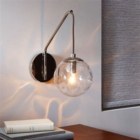 blown glass sconce west elm