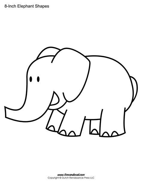 Elephant Template For Preschool by Printable Elephant Templates Elephant Shapes For