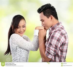Romantic Kissing Royalty Free Stock Photo