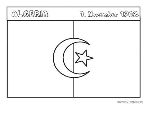 printable flag  algeria coloring page printable