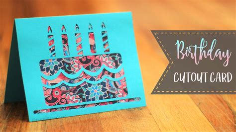birthday cake cutout card patterns youtube