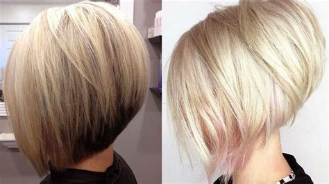 short stacked bob hairstyle fade haircut