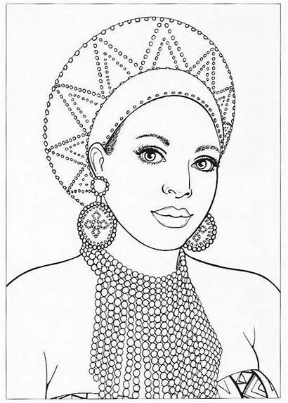 Coloring African Pages American Printable Adult Teens