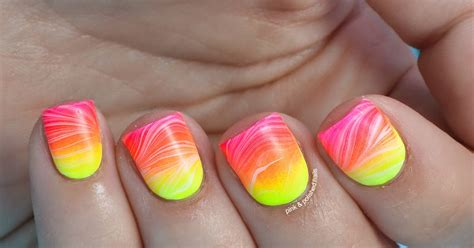 Summer Neon Gradient And Watermarble