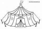 Circus Coloring Cirque Tent Coloriage Pages Dessin Funny Print Carnival Clown Children Sheets Printable Chapiteau Kindergarten Colorier Le Imprimer Sheet sketch template